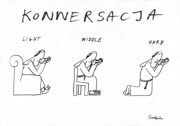 konwersacja-karykaturaportyretsatyra-konsekracja-franciszek